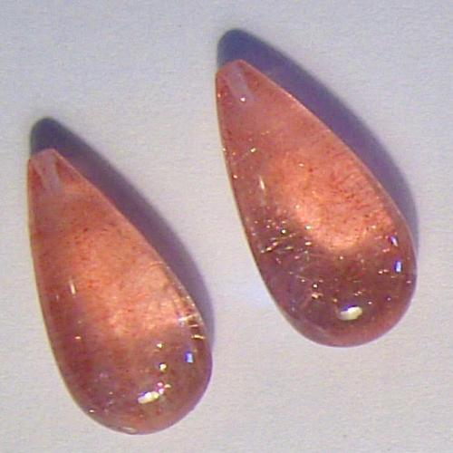Strawberry Quartz, Kazakhstan, these are the Real McCoy not the fake Chinese imposters, iridescent red shimmering needles in clear quartz, 14.27ct.